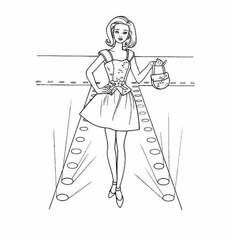 Giadinhsu.com - Tranh tô màu công chúa Barbie - Búp bê Barbie