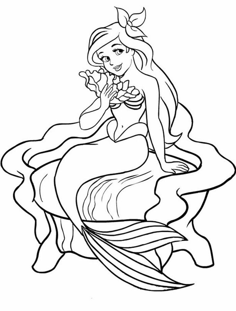 Giadinhsu.com - Tranh tô màu công chúa Ariel 002