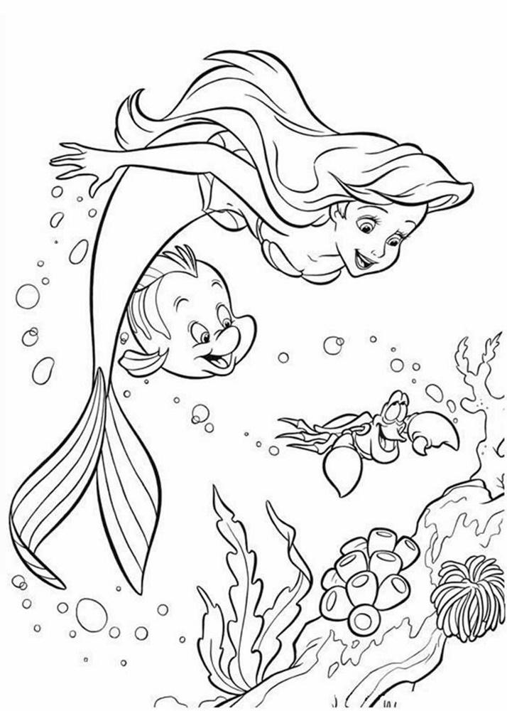 Giadinhsu.com - Tranh tô màu công chúa Ariel 003