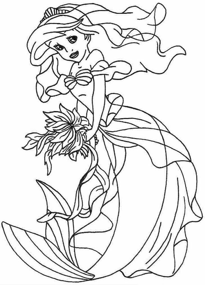 Giadinhsu.com - Tranh tô màu công chúa Ariel 004