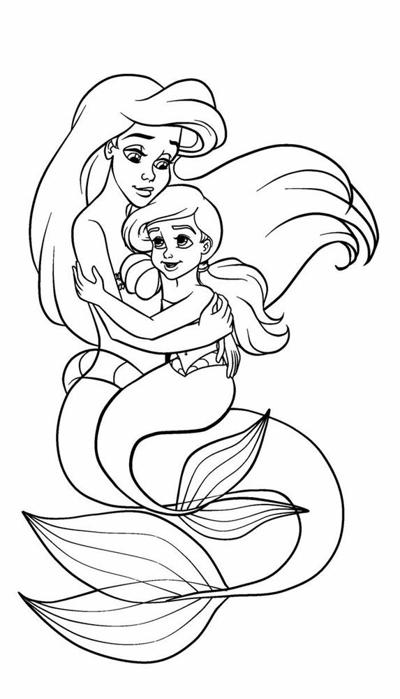 Giadinhsu.com - Tranh tô màu công chúa Ariel