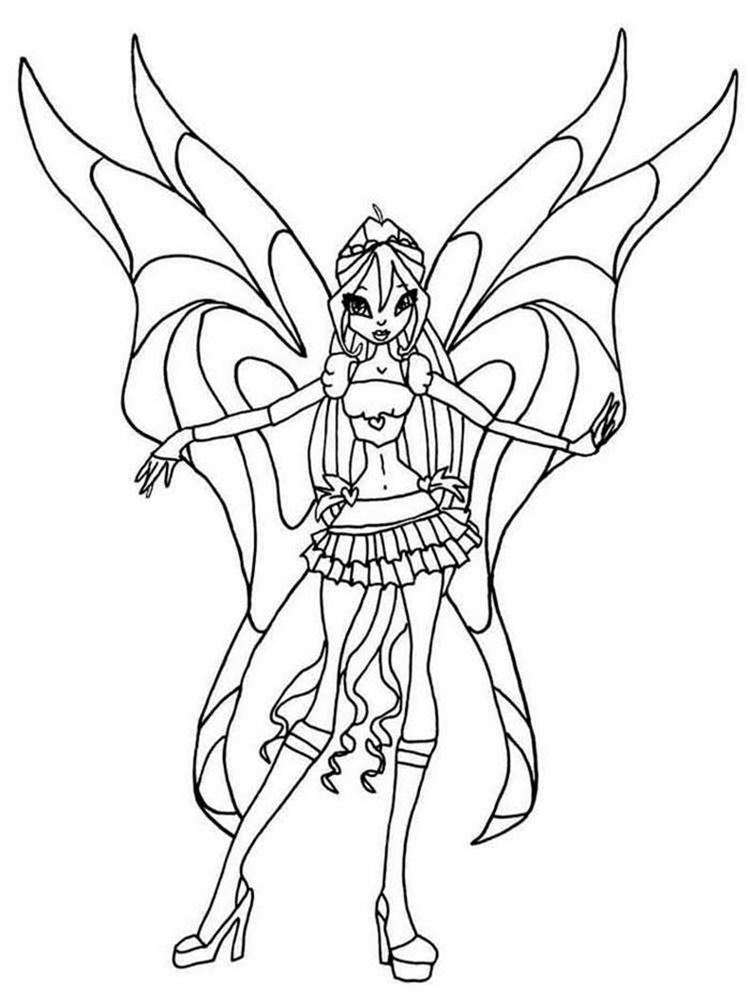 Giadinhsu.com - Tranh tô màu công chúa Winx - Phép thuật