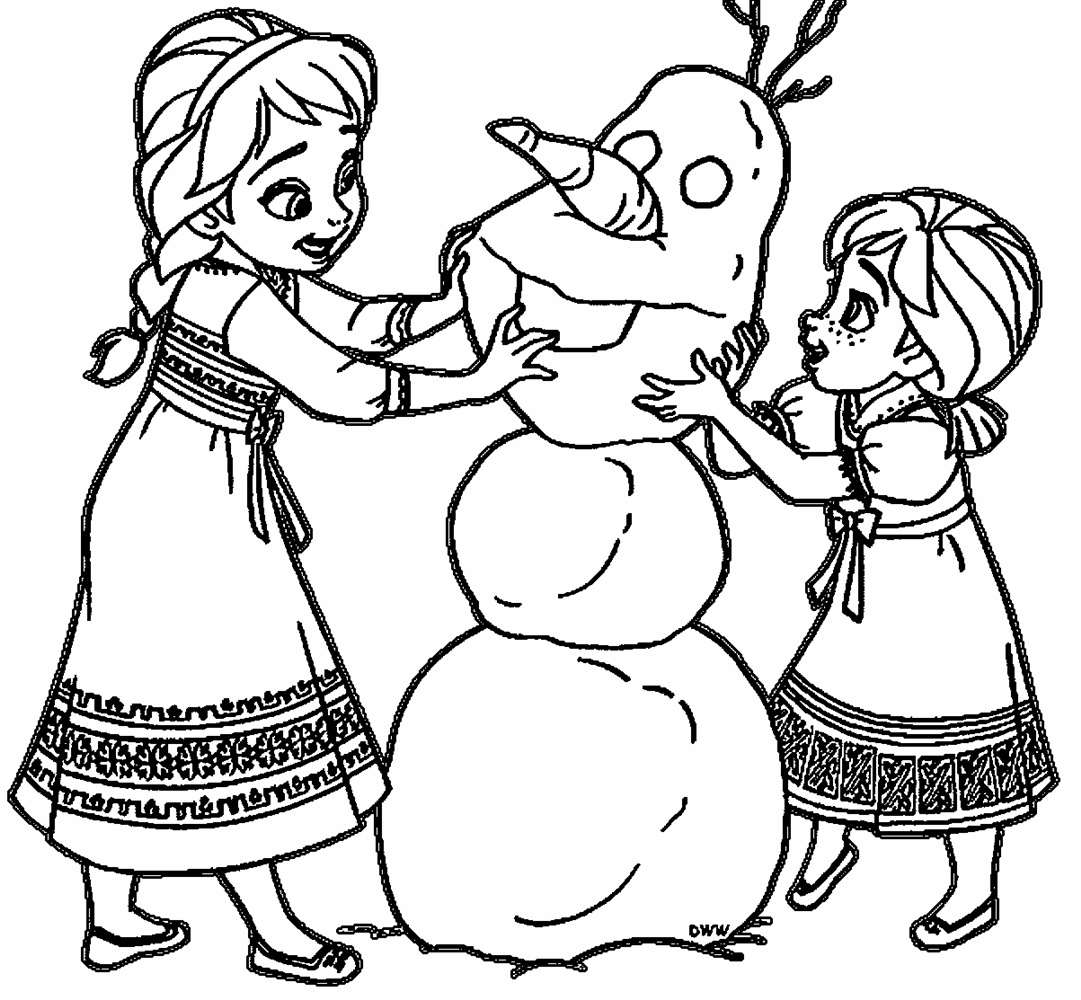 Giadinhsu.com - Tranh tô màu công chúa Anna - Nữ hoàng băng giá Frozen