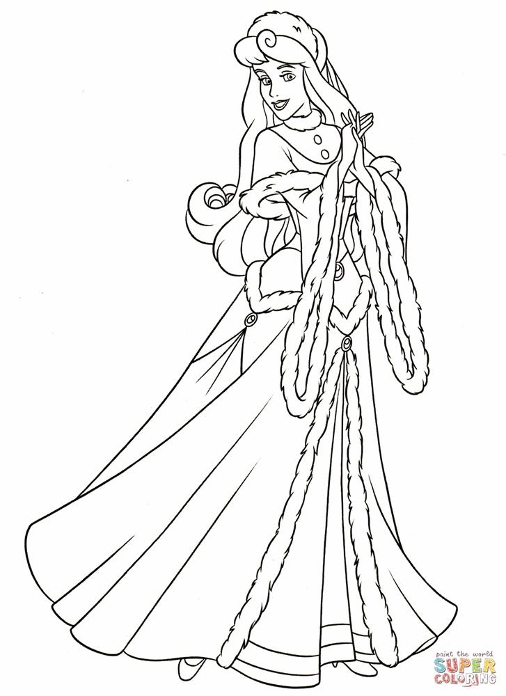 Tranh tô màu công chúa Aurora - Người đẹp ngủ trong rừng