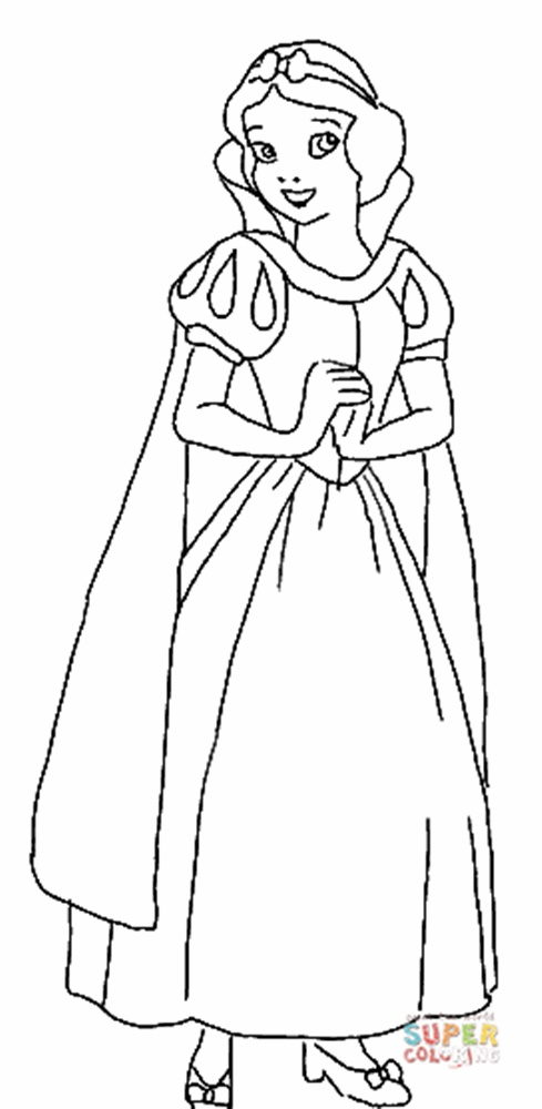 Giadinhsu.com - Tranh tô màu công chúa Bạch Tuyết - Snow White
