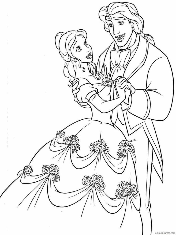 Giadinhsu.com - Tranh tô màu công chúa Belle - Người đẹp và quái vật