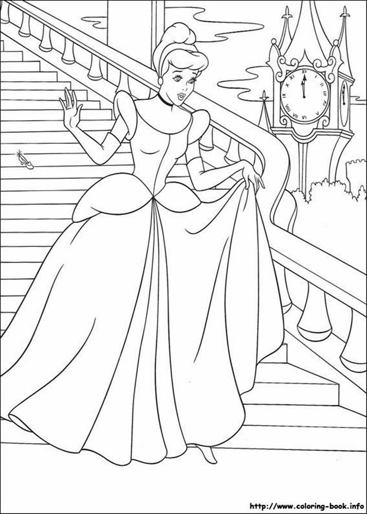 Giadinhsu.com - Tranh tô màu công chúa Cinderella - Lọ lem