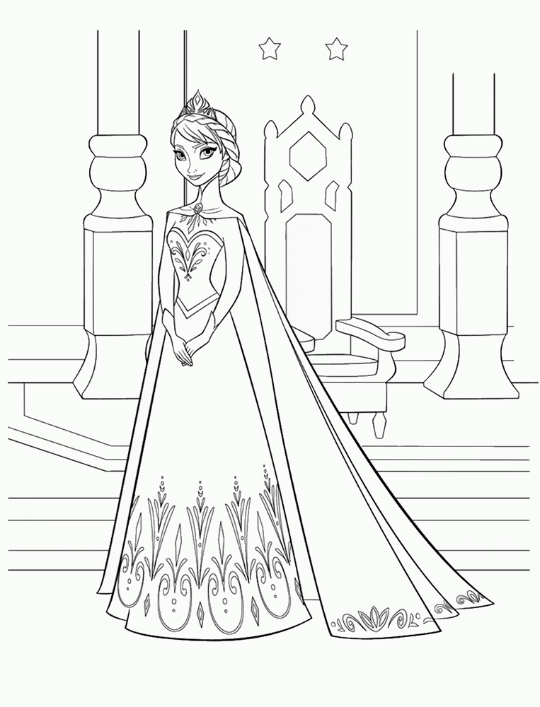 Giadinhsu.com - Tranh tô màu công chúa Elsa - Nữ hoàng băng giá