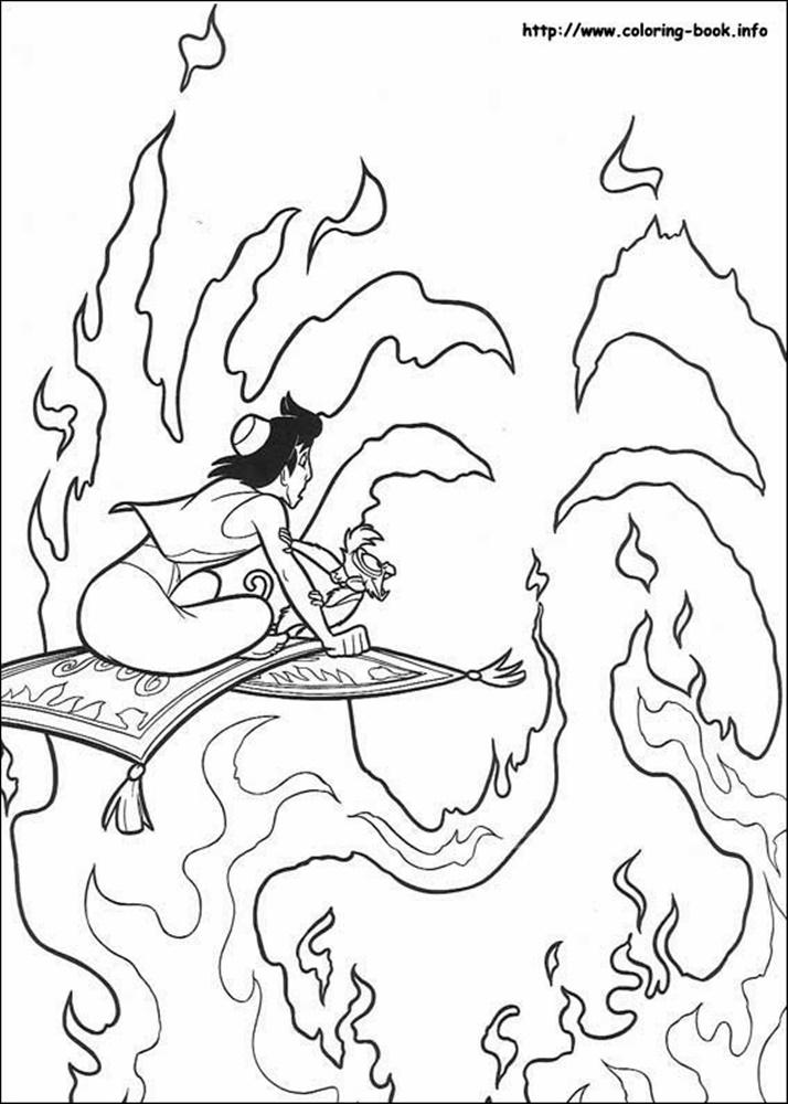 Giadinhsu.com - Tranh tô màu công chúa Jasmine - Aladdin và cây đèn thần