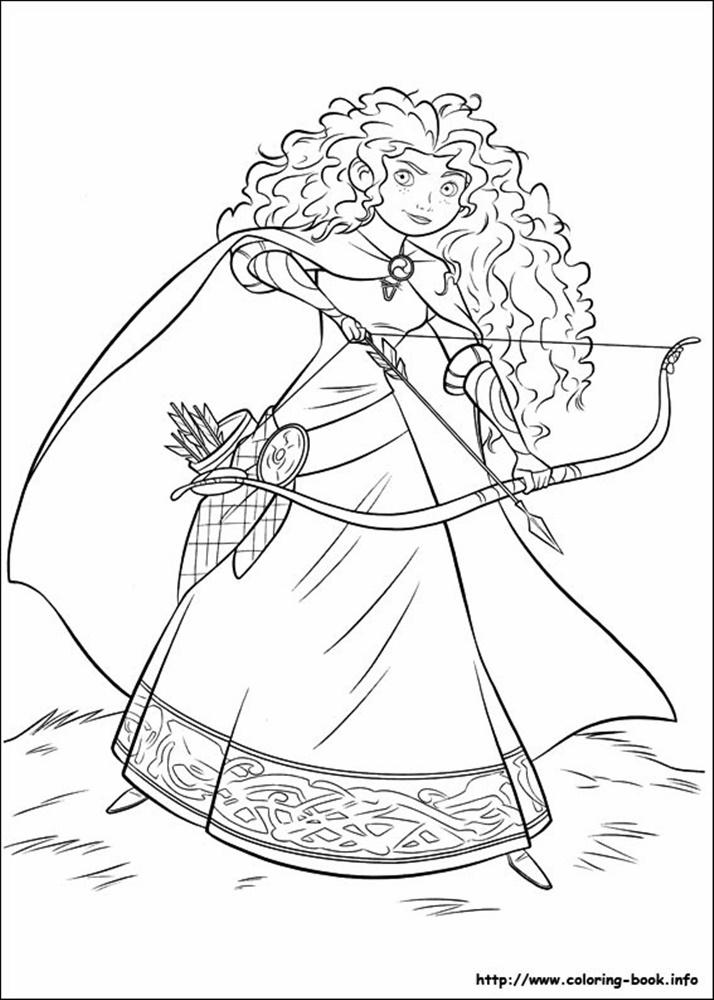 Giadinhsu.com - Tranh tô màu công chúa Merida - Công chúa tóc xù