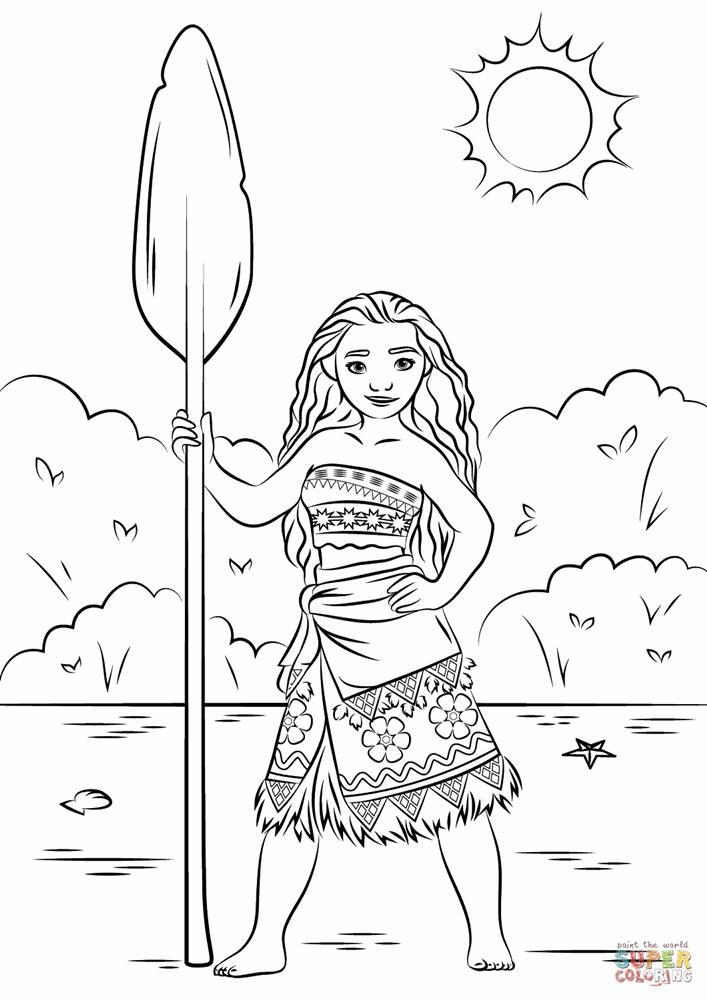 Giadinhsu.com - Tranh tô màu công chúa Moana - Hành trình của Moana