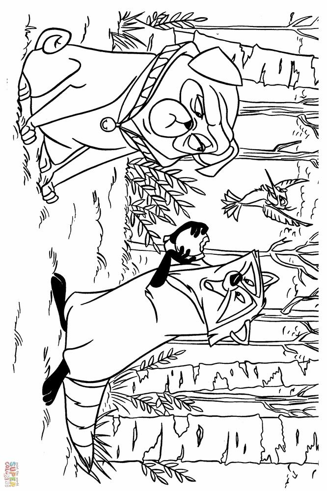 Giadinhsu.com - Tranh tô màu công chúa da đỏ Pocahontas