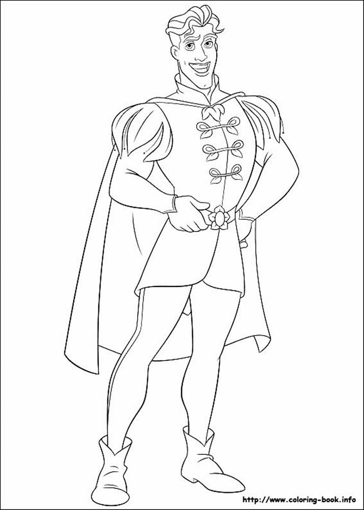 Giadinhsu.com - Tranh tô màu công chúa Tiana - Công chúa và chàng ếch